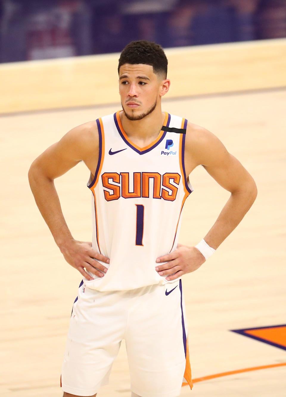 Devin Booker and the Suns open the 2021-22 season on Oct. 20.